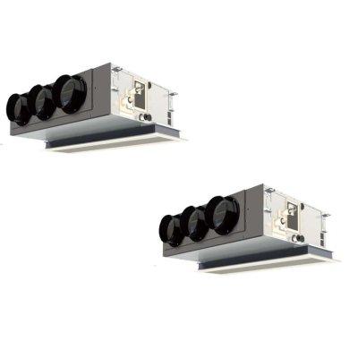 画像1: 岐阜・静岡・愛知・三重・業務用エアコン パナソニック 寒冷地向けエアコン 天井ビルトインカセット形 PA-P160F4KXDN P160形 (6HP) Kシリーズ 同時ツイン 三相200V 寒冷地向けパッケージエアコン